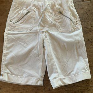 Justice Girls Size 14 Slim White Shorts Stretch